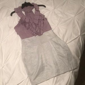 Dresses & Skirts - Purple and silver dress
